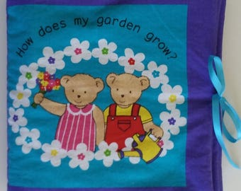Handmade ready to read Children's Books, Soft Books, Fabric Books, Cloth Book, ABCs, Counting, Christmas Gift, Child Gift, Classroom Gift