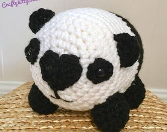 READY TO SHIP Stuffed Panda Bear - Amigurumi, Toy, Plush
