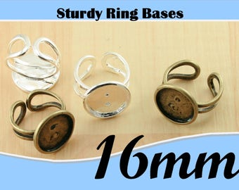 500 - 16mm ROUND Alloy Ring BezelTray Ring Only