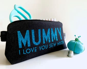 Personalised Mothers Day Luxury Travel Sewing Kit
