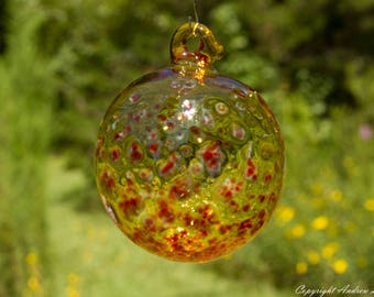 OOAK Hand blown Borosilicate Glass Christmas ornament O23
