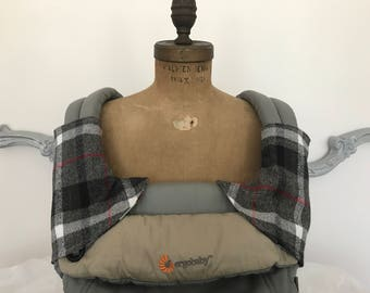 Boho Plaid Flannel Suck Pads Drool Pads Carrier Accessories