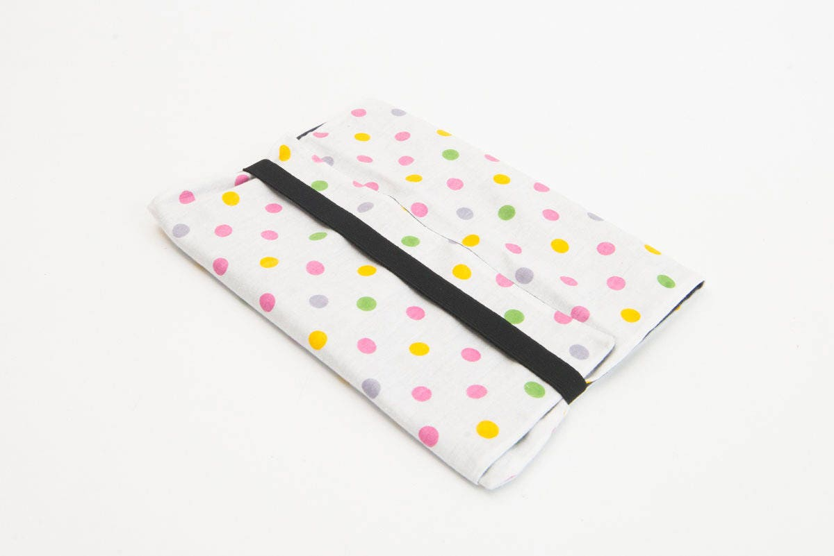 Prot ge cahier en tissu bicolore - Protege cahier avec rabat ...