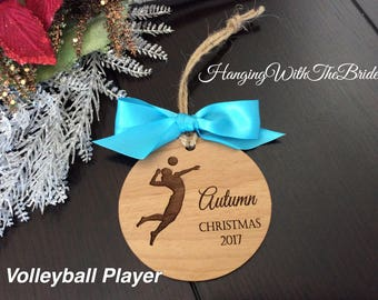 Personalized Volleyball player Ornament, Christmas Ornament for Volleyball, Bulk Volleyball Team Gift, Volleyball Coach, Ballerina,