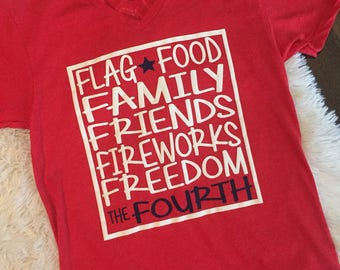 Fourth of July Family Friends Tee