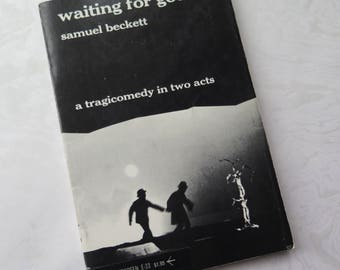 Waiting for Godot Samuel Beckett Play Paperback Book 1954 Copyright 45th Printing Grove Press New York Tragicomedy 20th Century Drama