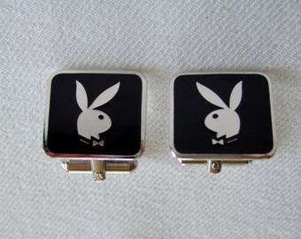Playboy Bunny Cufflinks Collectible Memorabilia Vintage Cool Radical Gifts For Dad Hot Gifts Just for Him Anniversary Gifts for Husband