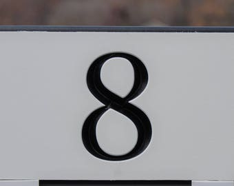 Custom 1 number engraved sign, 2 sided option available