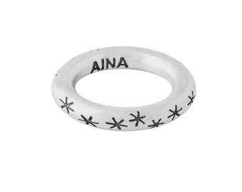 RUST STARS handmade sterling silver ring