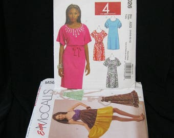 Lot of 12 patterns, sizes 4 - 14, Simplicity 3775, and McCall's 5756, 5815, 5931, 5940, 5857, 7243, 5859, 5652, 5845, 5971, 6026, bargain