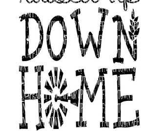 Raised up Down Home  svg/dxf/png Custom cut File Digital Download layered