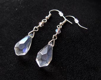 Teardrop Crystal Dangle Earrings