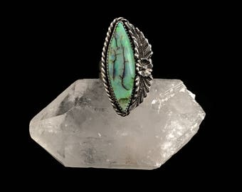 Large Marquise Monarch Opal Ring