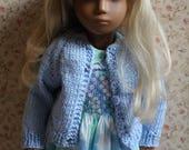Lovely Light Blue Cardigan Sweater for Vintage Sasha Dolls or Schoenhut Dolls