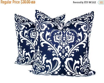 15% Off Sale PILLOWS, Blue pillow covers, Navy Blue pillow Blue Pillows ,Accent pillows, SET Decorative Throw pillows - Decorative Pillows -