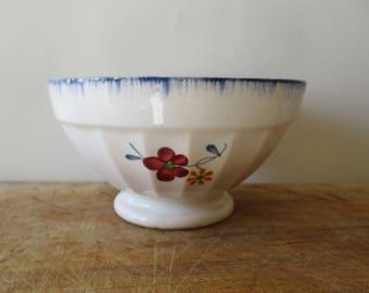 Vintage french  bowl, 1930, Digoin Sarreguemines, Bol ancien, France, Café au lait, Farm house, Kitchen, Antique