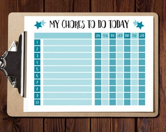 Chore chart, Chore List,Behavior chart,responsibility chart,kids chore chart,printable chore,chore board,family chore chart job,Reward Chart