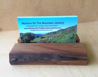 Business Card Holder Made with Walnut Wood Handmade By Father On The Mountain