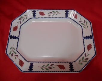 "One (1), 13"", Oval Serving Platter, from Adams China, of England, in the Lancaster Pattern."