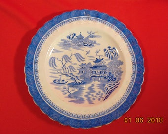 """One (1), 8 1/2"""" Luncheon Plate, from Copeland-Spode, in the Mandarin (Chelsea Gold Trim) Pattern, Circa 1879."""