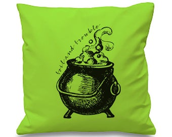 TOIL AND TROUBLE Cauldron Cushion Cover
