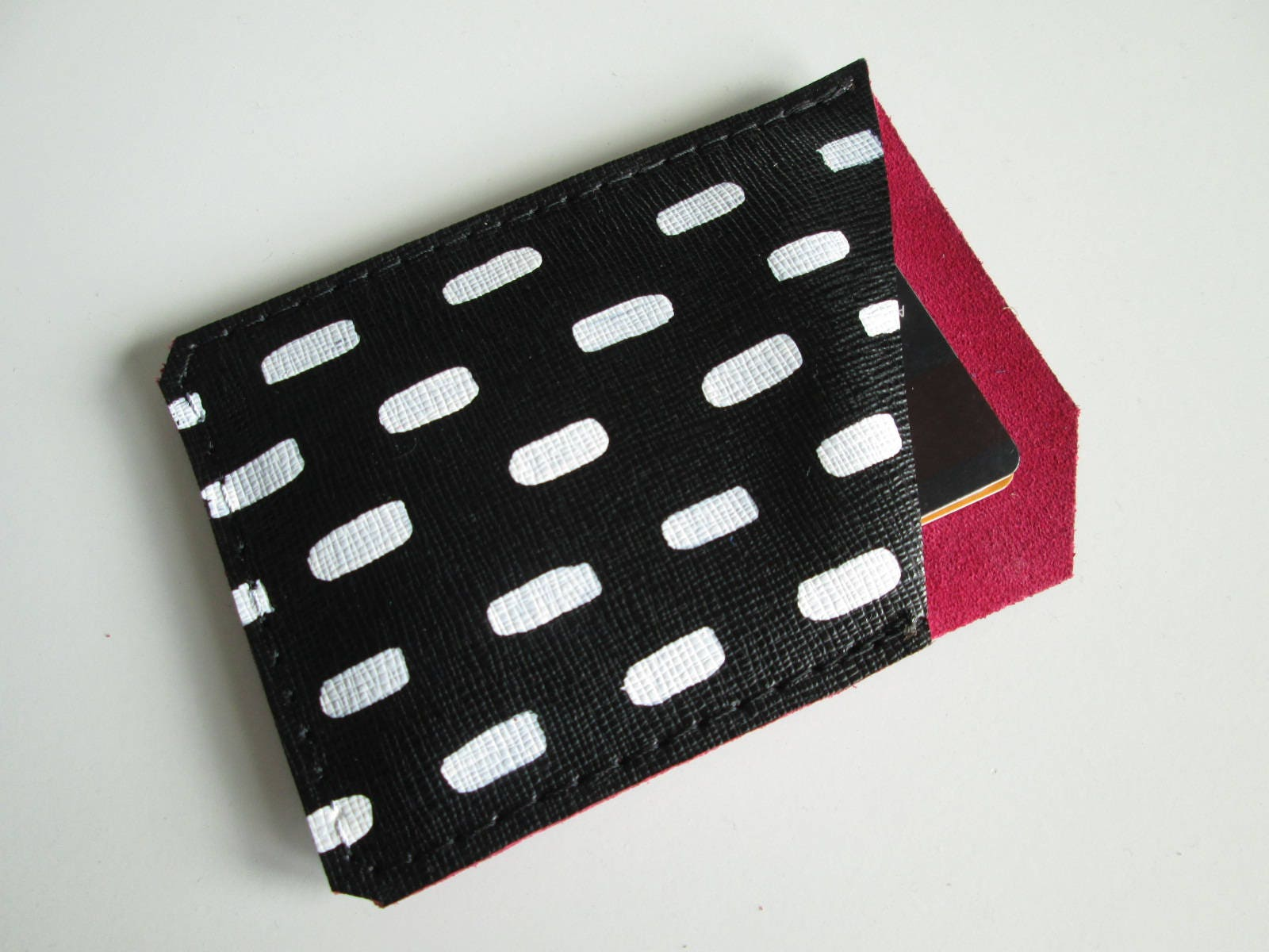 Leather Card Holder Credit card holder Printed Leather Business