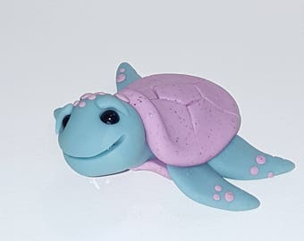 MADE TO ORDER Polymer clay sea turtle - can be any 2 colors