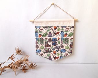 outdoors handmade patterned wall hanging | fabric banners, home decor