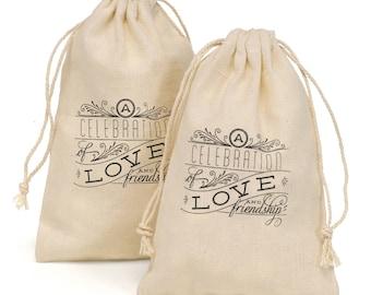 Cotton favor bags, Wedding Favor Bags, Wedding Treat Bags, Celebration Favor Bags, 25 Favor Bags, 25 Gift Bags