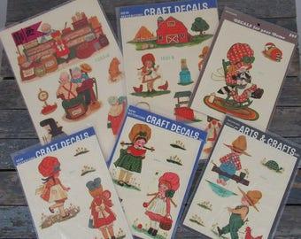 Vintage Decals, Kid's Room Decor, Furniture Decals, Decal Stickers, Laptop Decals, Arts and Crafts Supplies, Scrapbook Supplies