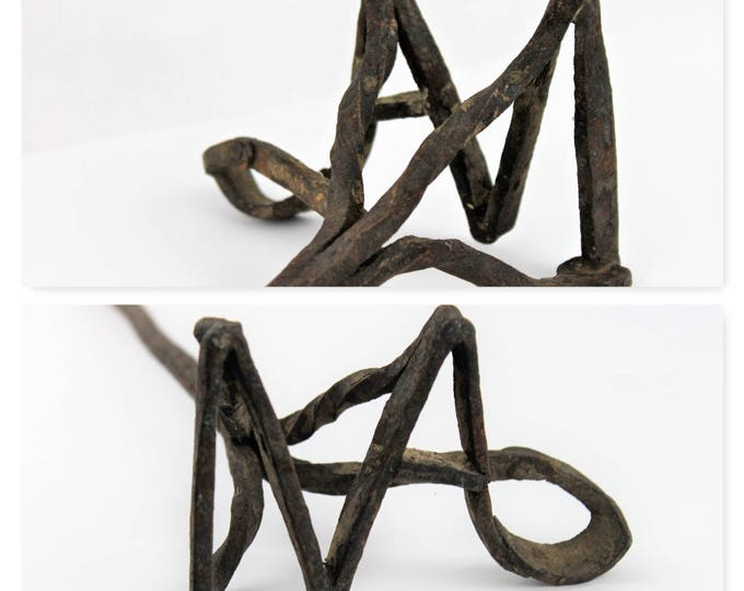 Antique Hand Forged Branding Iron, Lazy A-M Brand Branding Iron