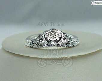 Cinderella Carriage Ring Exclusive 925 Silver Princess Heart Queen Crystal Handmade