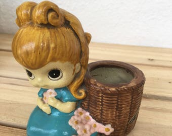Little Blonde Girl Planter