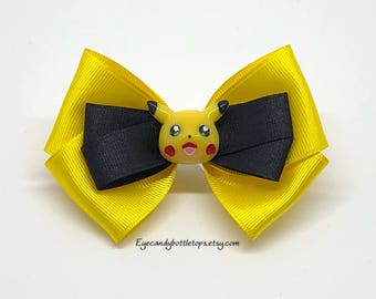 Pikachu Yellow Hair Bow