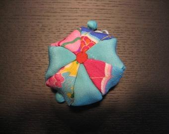 Small pouch. Balloon,Japanese Silk Kimono fabric,Chirimen Zaiku No.5