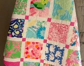 Lilly Pulitzer Baby/ Toddler Quilt- READY TO SHIP!
