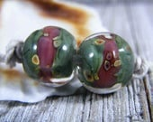 Handmade Lampwork Beads - Earring Pairs ~ Cura ~ Boho~Earring Pairs~Gypsy Style~Lampwork Bead Sets