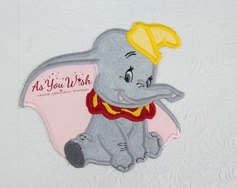 Dumbo flying elephant  inspired iron on or sew on patch