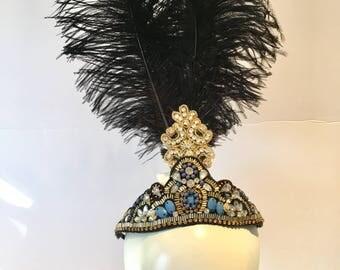 1920s Hair accessories- Gatsby headdress -Prohibition- Flapper- Gatsby style- Jazz age- 1920s Headdress- Black headpiece- Twenties Headpiece