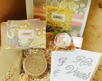 Mini Showered {Bride} Box {flower corsage + vow books}
