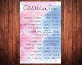 INSTANT DOWNLOAD Gender Reveal Old Wives Tales - Diamonds or Diamonds Decoration - Gender Guessing Game- What's the sex party