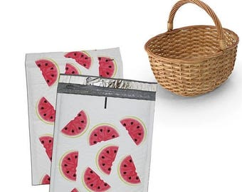 "On Sale 40Pack -8.5x12"" Watermelon Poly Bubble Mailer Self-Seal Easy-Open Tab Business Envelope Standard Mailer Size #0 Protective Shipping"