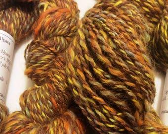 100% Suri Alpaca Yarn, Multi-Fall Yarn, 2.9 ounces, 150 yards, Pure Suri Yarn