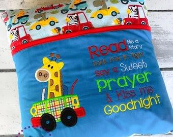 Baby Giraffe Reading Pillow - Kids Reading Pillow - Pocket Pillow - Giraffe Gift - Birthday Gift - Book Pillow - Book Baby Shower - Gift