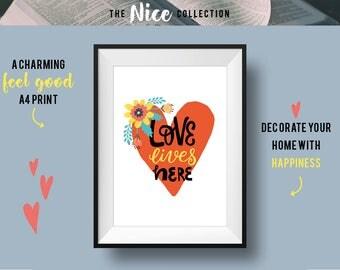 LOVE A4 300gsm Art Print