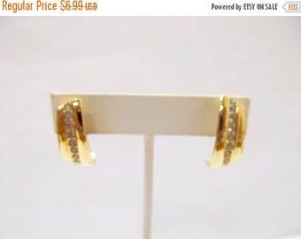 ON SALE AVON Crystal J Hoop Earrings Item K # 2988