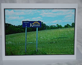 photo card, Welcome to Kansas, travel photography