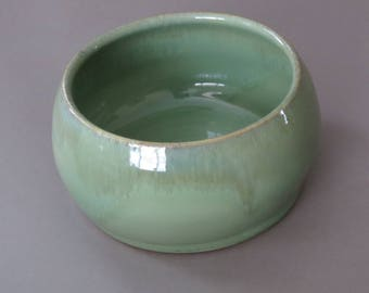 custom order for Melissa, pair of medium Spaniel bowl, ceramic dog dish, pottery pet bowl