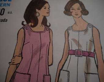 Vintage 1960's Vogue 7576 Top, Pants and Shorts Sewing Pattern Size 16 Bust 38