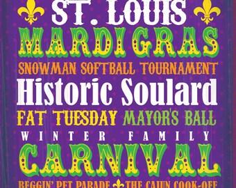 St. Louis Coaster Collection: STL Mardi Gras